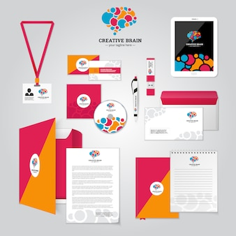 Social relationship and corporate identity poster