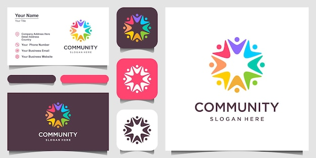 Social relationship logo and business card