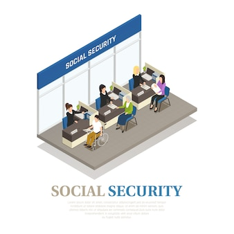 Social security isometric composition