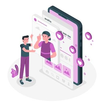 Social share concept illustration