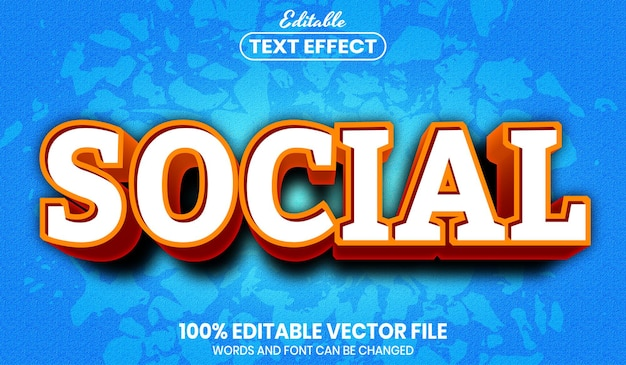 Social text, editable text effect