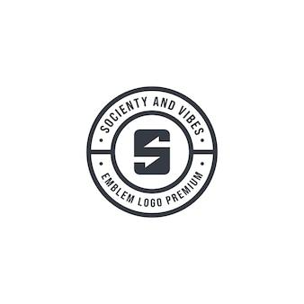 Socienty emblem logo premium