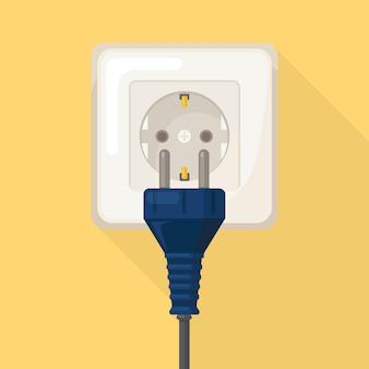 Розетка с вилкой. электричество. подключение и отключение домашней электросети