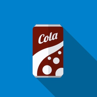 Soda can flat icon illustration isolated vector sign symbol