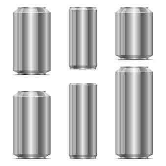 Soda can set design illustration isolated on white background