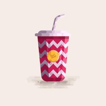 Soda cup fast food vector illustration