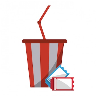 Soda cup and tickets