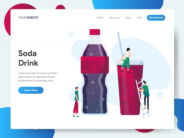 Soda drink banner for landing page