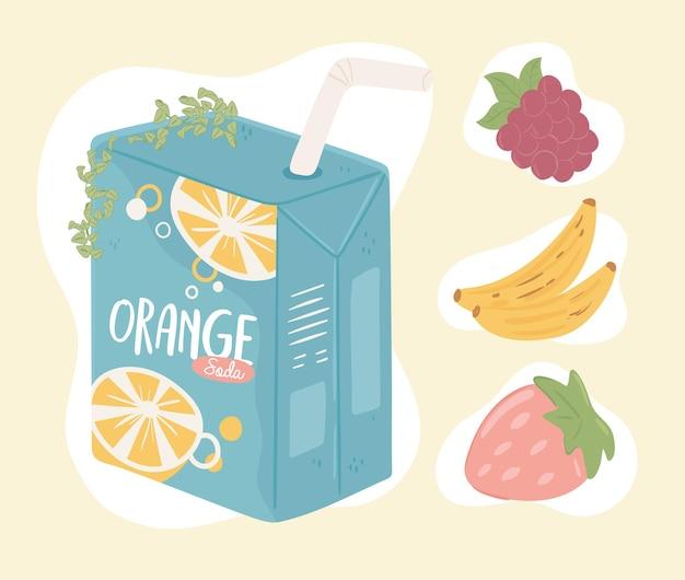 Soda drink fruits