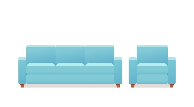 Sofa, armchair, couch icon,