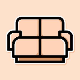 ソファの漫画のデザイン