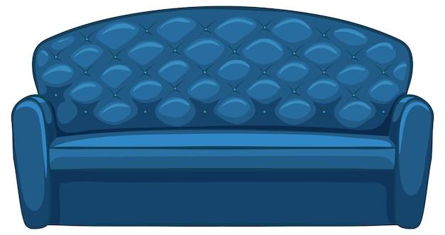 白い背景の上のインテリアデザインのソファ家具