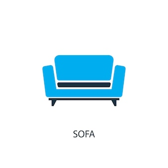 Sofa icon. logo element illustration. sofa symbol design from 2 colored collection. simple sofa concept. can be used in web and mobile.
