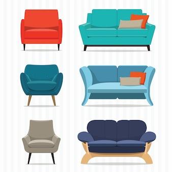 Sofa modern set