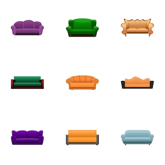 Sofa set, cartoon style