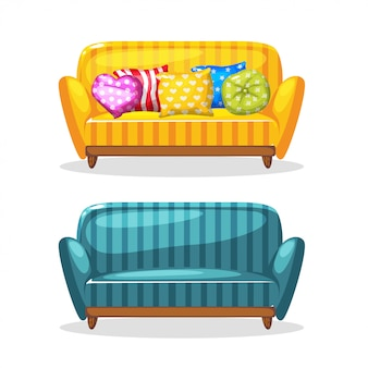 Sofa soft colorful homemade