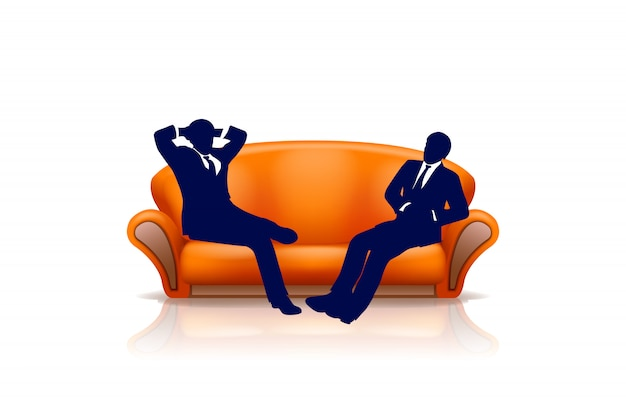 Sofa with two men