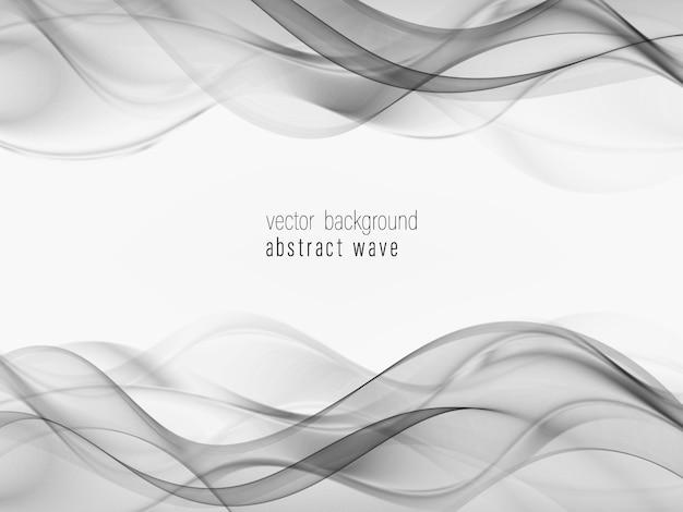 柔らかい抽象的な波の境界線の背景。