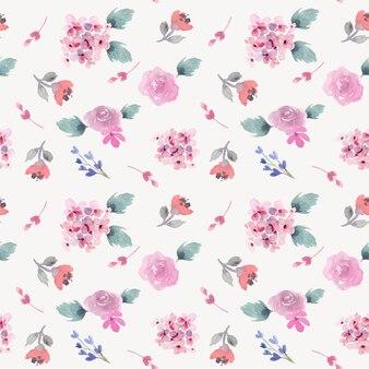 Мягкий и простой розовый цветочный акварельный фон