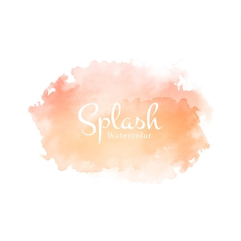 Soft beautiful watercolor splash design