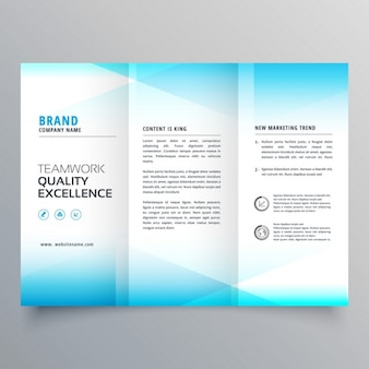 Soft blue geometric brochure