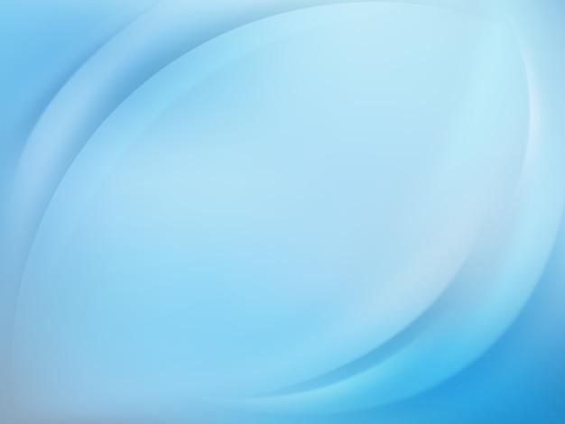 滑らかなラインと柔らかい青い光の背景。