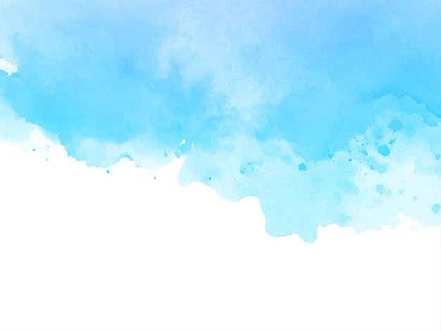 Soft blue watercolor texture design background vector