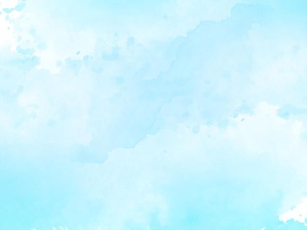 ソフトブルーの水彩テクスチャ
