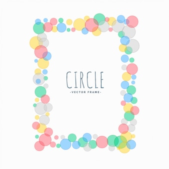 Soft circles cute frame background