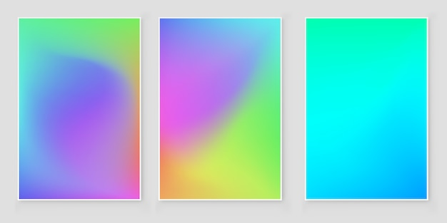 Мягкий цвет сетки градиента фона набор. абстрактный векторный дизайн.