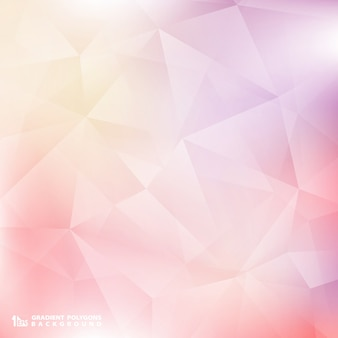 Soft color pink and purple background polygon pattern.