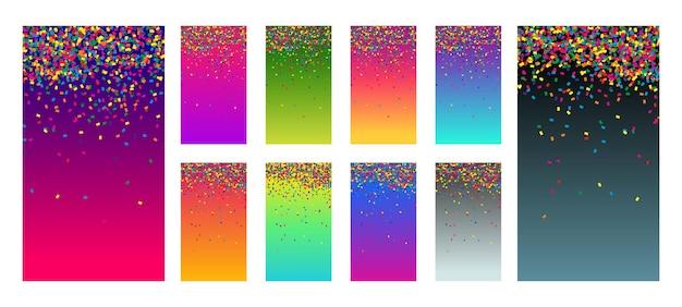 Soft color vibrant gradient modern screen vector ux ui design palette living smooth background