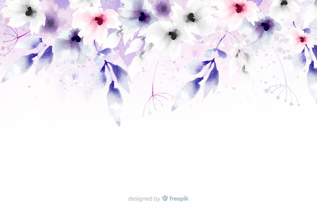 Soft-colored floral watercolor background
