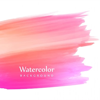 Soft colorful hand draw stroke watercolor background