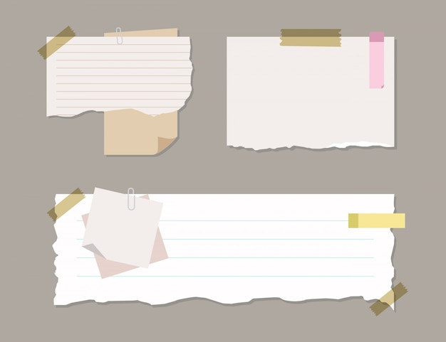 Soft colorful and lined note paper