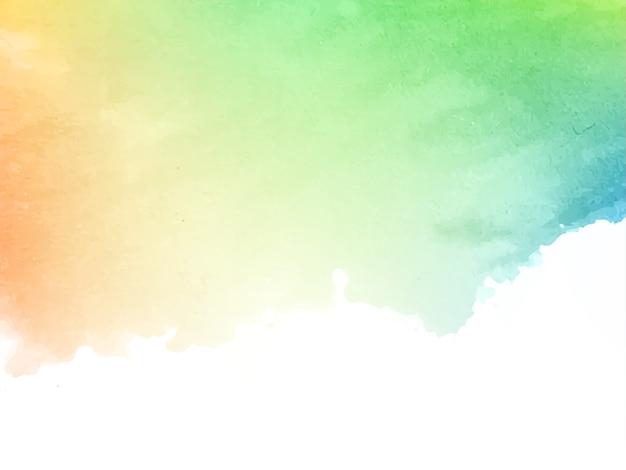 Мягкий красочный акварельный дизайн текстуры фона