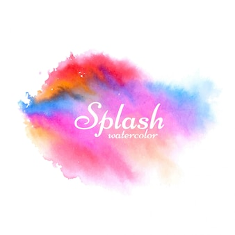 Soft colorful watercolor splash design vector