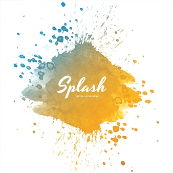 Soft colorful watercolor splash design