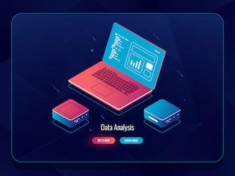 ソフト開発等尺性、ウェブデザインプロセス、データ付きラップトップ、プログラミングおよびコードライティング