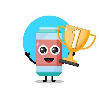 Soft drink trophy cute character mascot