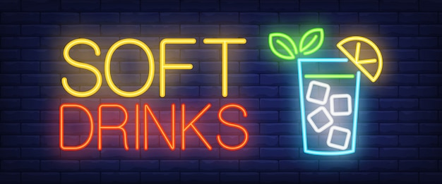 Soft drinks neon sign
