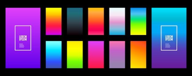Soft gradient background set