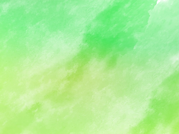 Soft green decorative watercolor texture background