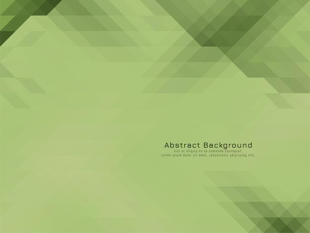 柔らかい緑の三角形のモザイクパターン幾何学的な背景ベクトル