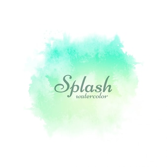 Soft green watercolor splash design