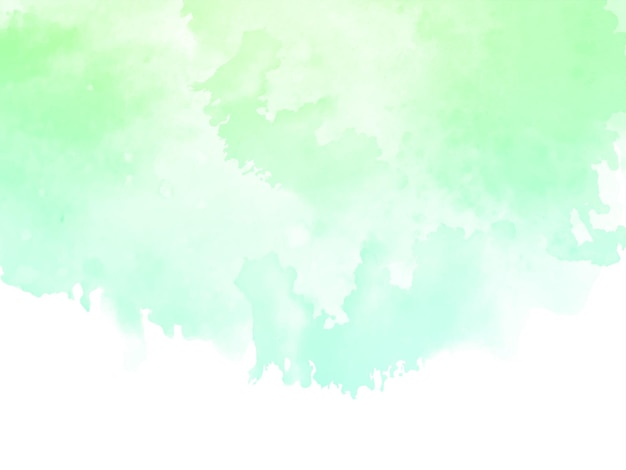 Soft green watercolor texture design background vector