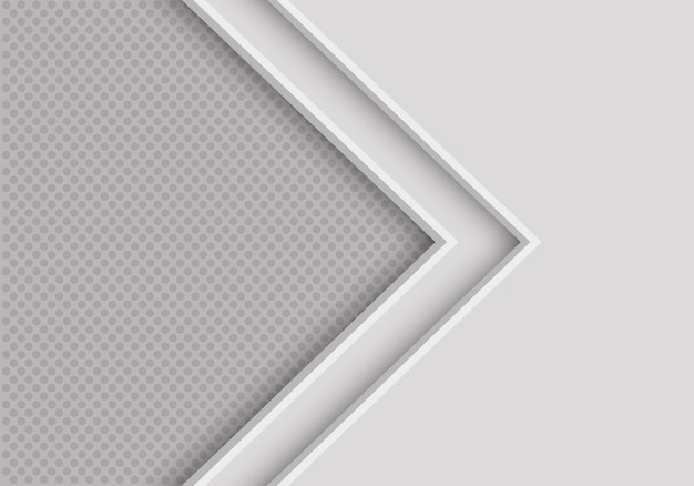Soft grey arrow direction with circle mesh background.