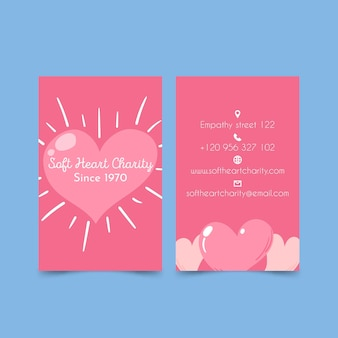 Soft heart charity double sided business card