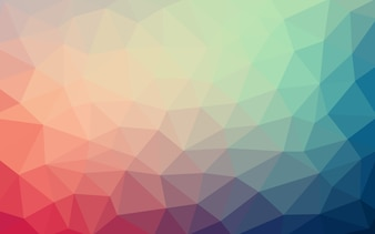 Soft  Low poly crystal background