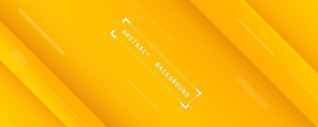 柔らかいオレンジと黄色の抽象的な壁紙と水平方向のモダンなバナーの背景
